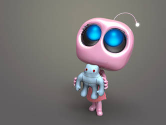Zbrush Doodle Day 907 - Robot Kid Series 30 by UnexpectedToy