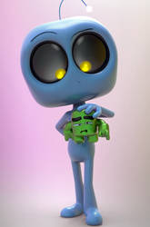Zbrush Doodle Day 916 - Robot Kid Series 33 by UnexpectedToy