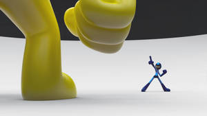 Zbrush Doodle: Day 1120 - Mega Man Vs Yellow Devil by UnexpectedToy