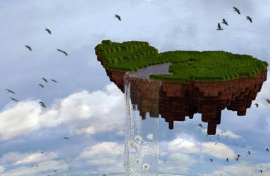 Zbrush Doodle: Day 1134 - Floating Voxel Island by UnexpectedToy