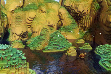Zbrush Doodle: Day 1253 - Voxel Lagoon Painterly by UnexpectedToy