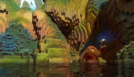 Zbrush Doodle: Day 1253 - Voxel Lagoon Painterly 2 by UnexpectedToy