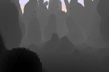 Zbrush Doodle: Day 1254 - Fog at Daybreak by UnexpectedToy