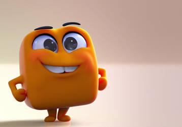 Zbrush Doodle: Day 1261 - Orange Cube by UnexpectedToy