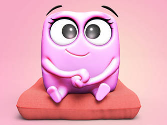 Zbrush Doodle: Day 1451 - Comfy Pillow by UnexpectedToy