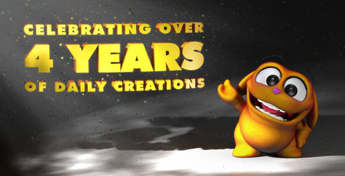 Celebrating Four Years of Daily Creations by UnexpectedToy