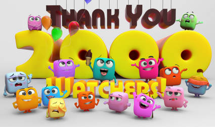 Zbrush Doodle: Day 1500 - Thank you 2000 Watchers! by UnexpectedToy