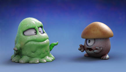 Zbrush Doodle: Day 1507 - Low Level Monster Issues by UnexpectedToy