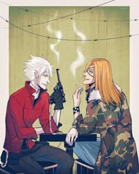 Heine and Badou by RealDandy