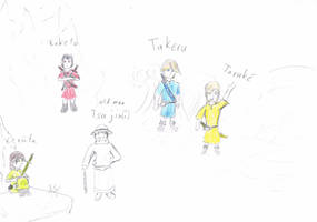 4 children, one Person and Tsujin by RikThunder