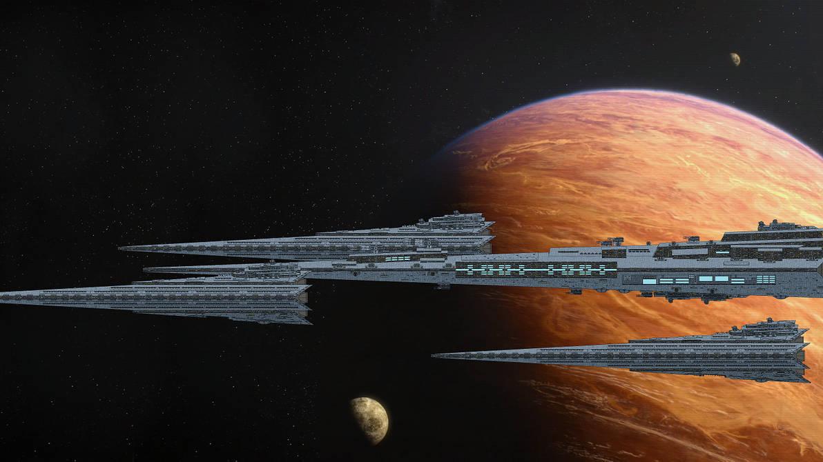 (ALT SW) First Order fleet above Bespin by TinkerTanker44432