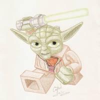 Lego Yoda by Crystal-Cat