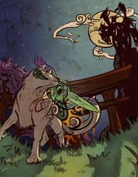 Amaterasu vs Orochi- Okami by amandas-sketches