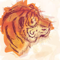 Tiger Paint by amandas-sketches