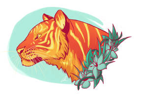 Fire-tiger by amandas-sketches