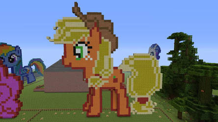 Applejack Made In Minecraft by ty7711