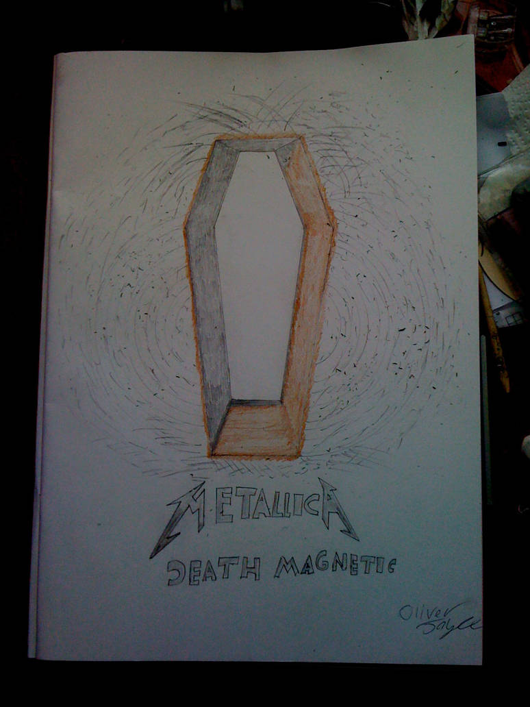 Metallica Death Magnetic Album Cover Fan Art by ty7711