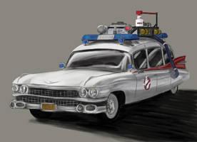 Ghostbusters car by SaturnHaynes