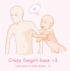 Crazy fangirl base by Misa-pixels