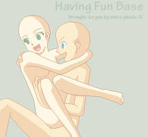 Having Fun Base by Misa-pixels