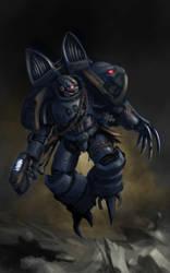 Night Lords chaos raptor by Jutami