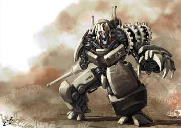Transformers Devastator WW2 King tiger by Jutami