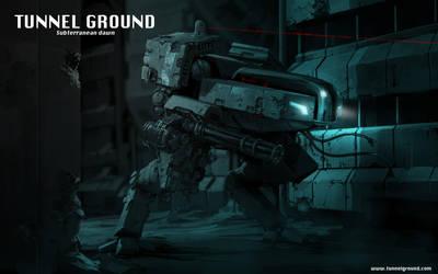 Tunnel Ground  Subterranean Dawn game concept art by Jutami