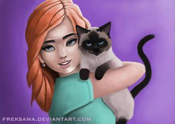 Cat Lady by Freksama
