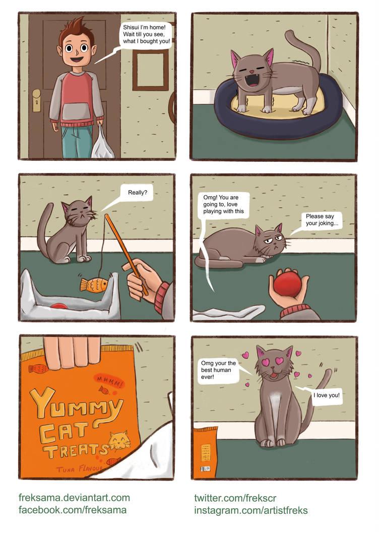 Cat Comic Sketch by Freksama