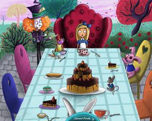 Alice in Wonderland - Tea Party by Freksama