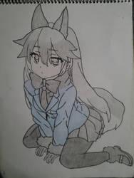 kemono friends : silver fox by Dark-Dragon-Knight1