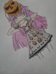 touhou : hata no kokoro(halloween) by Dark-Dragon-Knight1