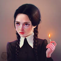 Wednesday Addams by very-busy-bunny