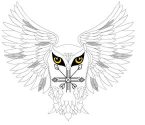 Tribal Owl Tattoo by duckyrun2
