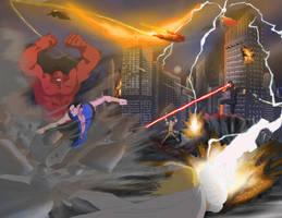 avengers vs X-men by pain16