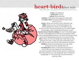 Heart-Bird and her Info by Heart-Bird