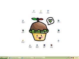 Cupcake Turtle - My desktop by Heart-Bird
