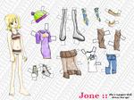 Jone Paper Doll - Regular by Heart-Bird