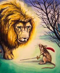Aslan and Reepicheep by camillo1978