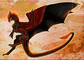 Comish - Crimson Landing by TwilightSaint