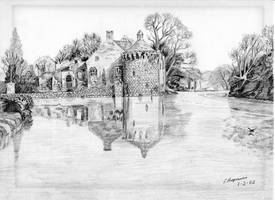 Castle on a Lake, pencil by GregBHargreaves