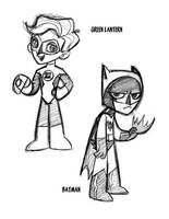 DCUElementary: Batman and GL by tombancroft