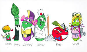 Larryboy character designs by tombancroft