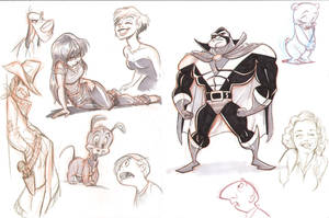 Doodle sketches by tombancroft