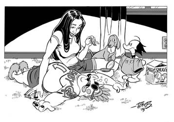 Liberty Meadows pinup_inks by tombancroft