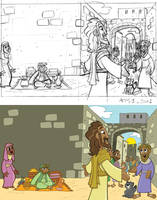 Acts 1, illo 1- PROGRESSION by tombancroft