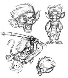 Monkey King_development by tombancroft