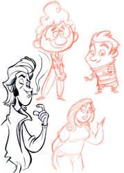 Doodle sketch page by tombancroft
