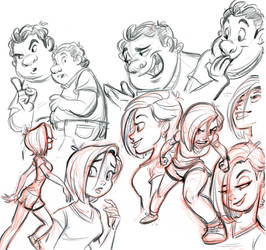 Opp. Forces sketches by tombancroft