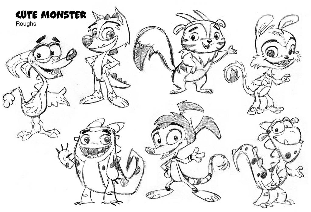 Cute Monsters Concepts By Tombancroft On Deviantart